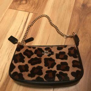 Coach leopard purse new